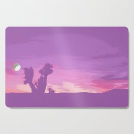 Lavender Joshua Sunset - Pop_Art Cutting Board