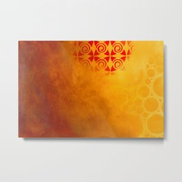 Pattern in a sandstorm Metal Print