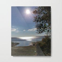 Fort Fisher Boat dock Metal Print