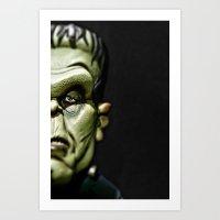 frankenstein Art Prints featuring Frankenstein by Sergio Bastidas