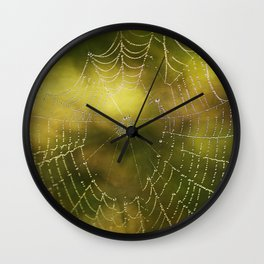 The Web we Weave Wall Clock