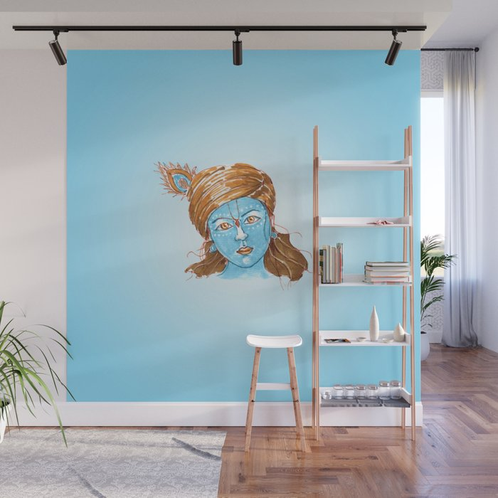 Lord Krishna Painting From Russia Wall Mural By Jeshta