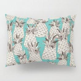 pineapple turquoise sea Pillow Sham