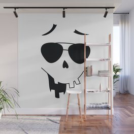 Funny Halloween Face with Sunglasses Wall Mural