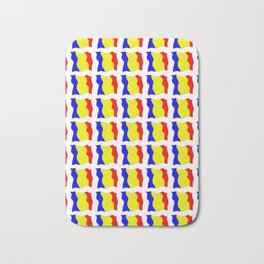 Flag of romania-romania,romanian,balkan,bucharest,danube,romani,romana,bucuresti Bath Mat