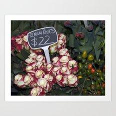 Red Premium Roses Art Print