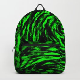 Green and Black Swirl Abstract Backpack