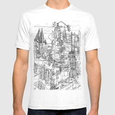 San Francisco! (B&W) White MEDIUM Mens Fitted Tee
