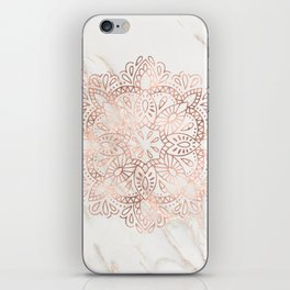 Rose Gold Mandala Marble iPhone Skin