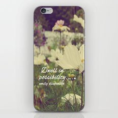 Dwell in possibility iPhone & iPod Skin