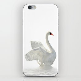 WHITE ON WHITE-BEAUTIFUL SWAN iPhone Skin
