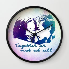 Together or not at All Wall Clock