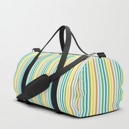 Colourful Pinstripes Duffle Bag