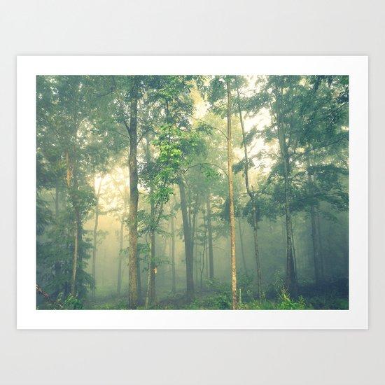 Beyond the Mist Lies Another World Art Print