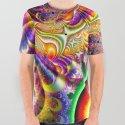 BBQSHOES™: Mystic Universe Fractal Art All-Over Print T-Shirt by bbqshoes