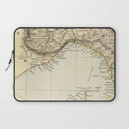 Vintage Retro Map Northern Italy Laptop Sleeve
