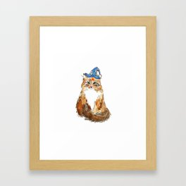 Maine Coon Cat Wizard Framed Art Print