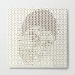 Tessellated Portraits - M.V. Metal Print