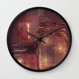 Flickering Stars Wall Clock