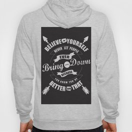 Typography Believe Hoody