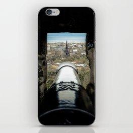 scott monument from Edinburgh castle gun Scotland iPhone Skin