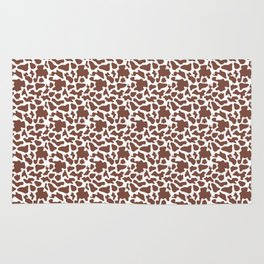 Cow Animal Print Pattern Rug