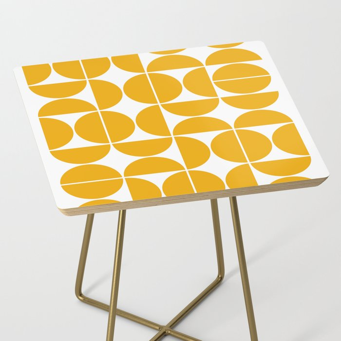 Mid Century Modern Geometric 04 Yellow Side Table