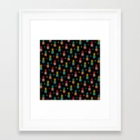 pineapples Framed Art Prints featuring Pineapples! by Rendra Sy