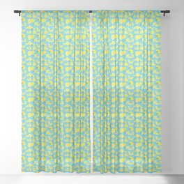 Lemoncello Teal Sheer Curtain