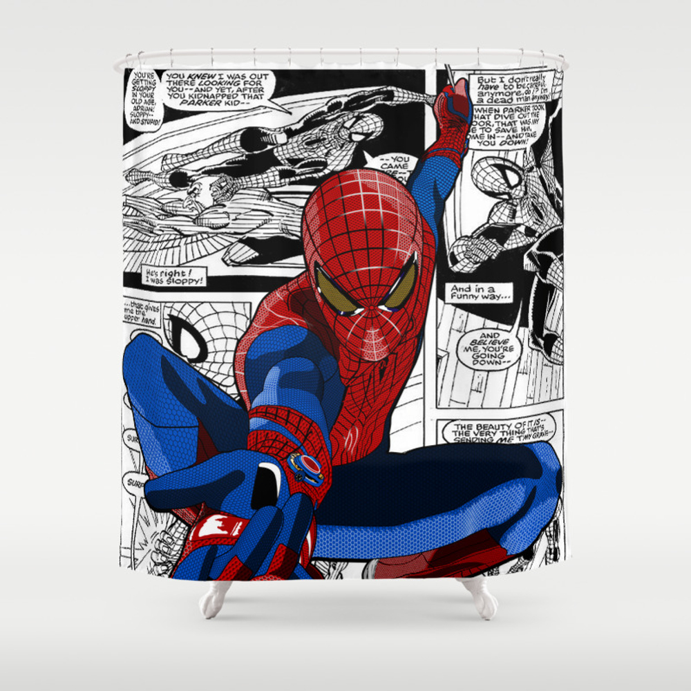 Spider-man Comic Shower Curtain by Crhodes23 CTN681773