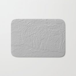 Abstract thick gray paint texture Bath Mat