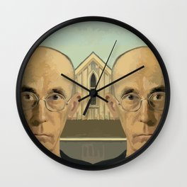 Gay American Gothic - LGBT Marriage Equality Wall Clock