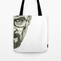 breaking bad Tote Bags featuring Breaking Bad by Adam McDade