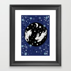 Dancing Rabbits Framed Art Print