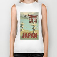 travel poster Biker Tanks featuring Kaiju Travel Poster by Duke Dastardly