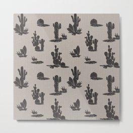 cactus fabric texture pattern Metal Print