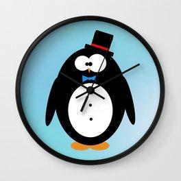 Classy penguin Wall Clock