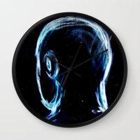 depression Wall Clocks featuring Depression by Brandon Lynch