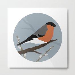 Eurasian Bullfinch Metal Print