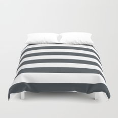 Charcoal Stripes Duvet Cover