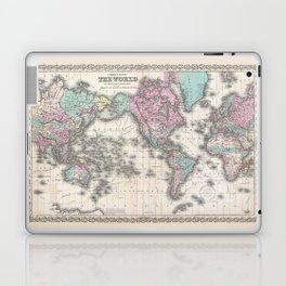 1855 Colton Map of the World on Mercator Projection Laptop & iPad Skin