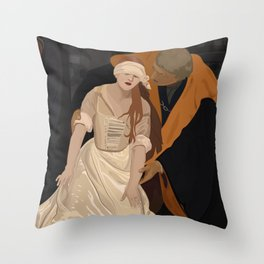 Lady Jane Grey illustration Throw Pillow