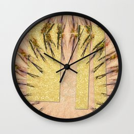 Intropression Makeup Flowers  ID:16165-134558-56051 Wall Clock