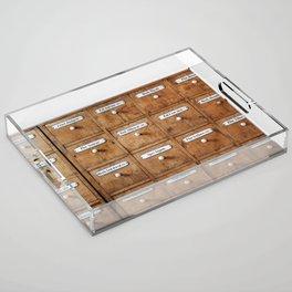 Pharmacy storage Acrylic Tray