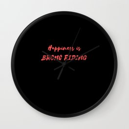 Happiness is Bronc Riding Wall Clock