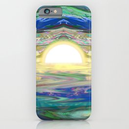 An Abstract Sunrise of a Sunset at the Beach iPhone Case