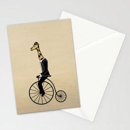 Penny Farthing Giraffe Stationery Cards