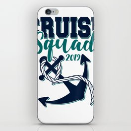 Cruise Squad 2019 T-Shirt Matching Vacation iPhone Skin