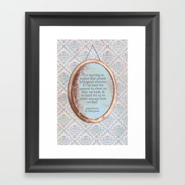 Mirrors Framed Art Print
