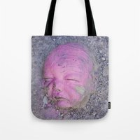 no face Tote Bags featuring Face by Victoria Herrera